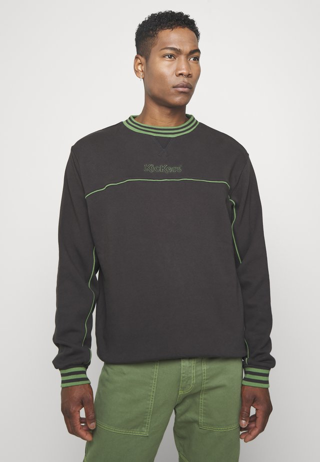 PIPED CREWNECK  - Collegepaita - black