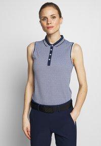 Kjus - WOMEN ELLA STRUCTURE - Polo shirt - atlanta blue/white - 0