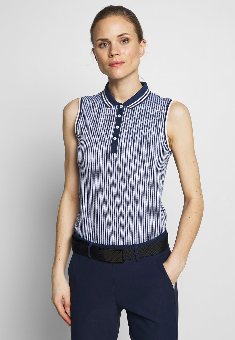 Kjus - WOMEN ELLA STRUCTURE - Polo shirt - atlanta blue/white