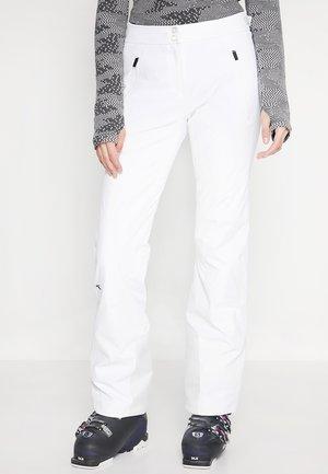 WOMEN FORMULA PANTS - Snow pants - white