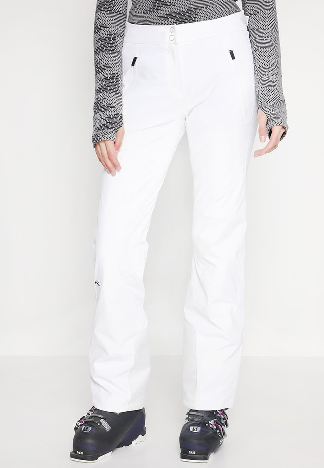 WOMEN FORMULA PANTS - Snow pants - white