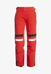 Kjus - WOMEN MADRISA PANTS - Ski- & snowboardbukser - fiery red/black - 3