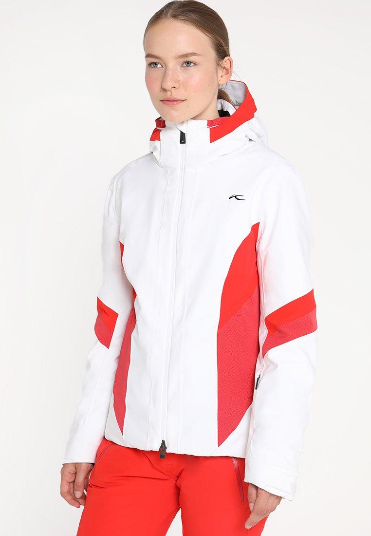 Kjus - WOMEN LAINA JACKET - Chaqueta de esquí - white/fiery red