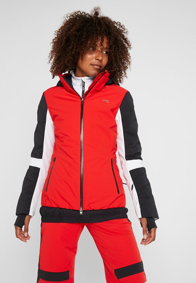 WOMEN FORMULA JACKET - Ski jacket - fiery red/black
