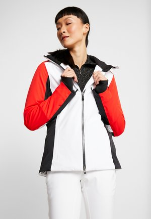 WOMEN LAINA JACKET - Lyžařská bunda - white/fiery red