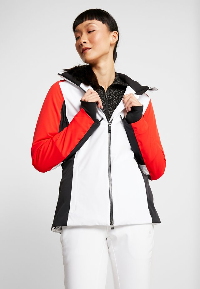 WOMEN LAINA JACKET - Ski jacket - white/fiery red
