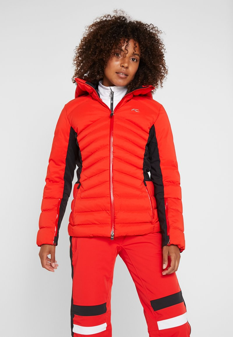 Kjus - WOMEN DUANA JACKET - Kurtka narciarska - fiery red/black