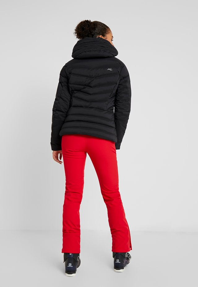 WOMEN DUANA JACKET - Lyžařská bunda - black