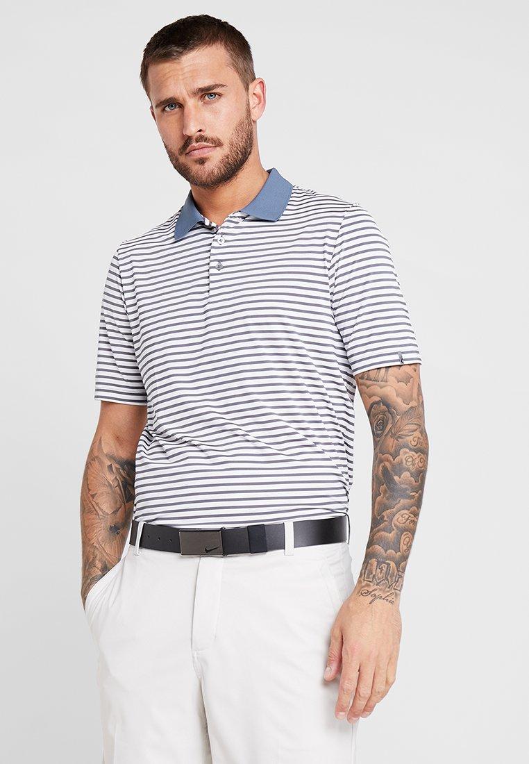 Kjus - MEN LUIS STRIPE - Polo shirt - silver fog/steel