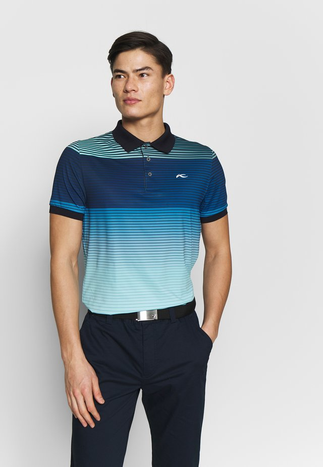 MEN SPOT PRINTED - Polo - ice blue