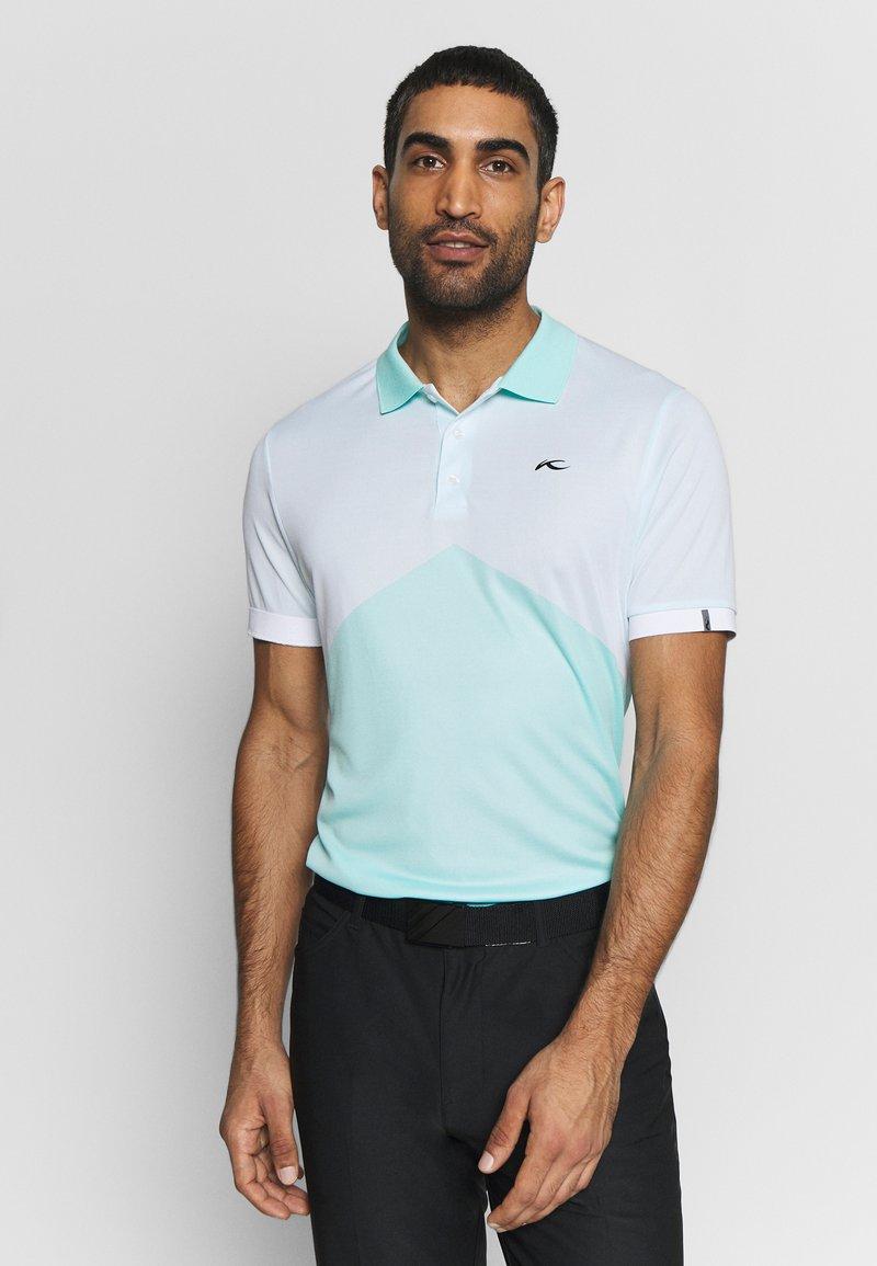 Kjus - MEN ARROW - Polo shirt - ice blue/white