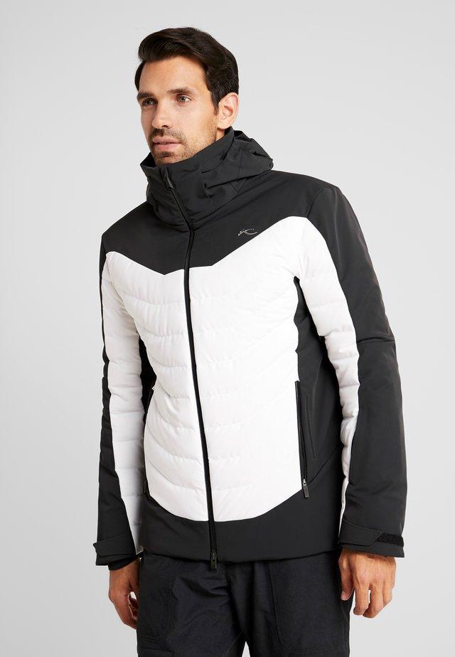 MEN SIGHT LINE JACKET - Lyžařská bunda - black/white