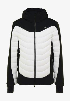 MEN SIGHT LINE JACKET - Gewatteerde jas - black/white