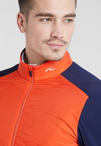 Kjus - MEN RETENTION JACKET - Outdoorová bunda - orange/blue - 3