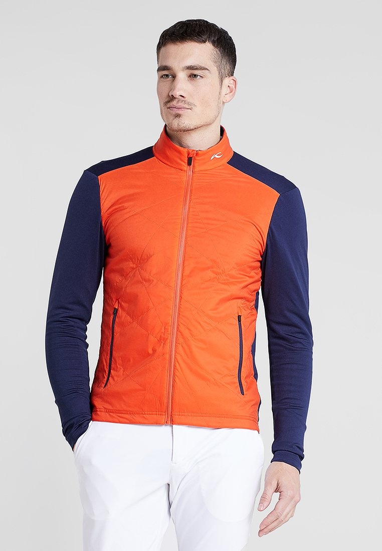 Kjus - MEN RETENTION JACKET - Outdoorová bunda - orange/blue