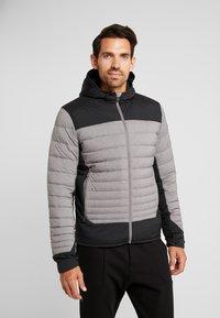 Kjus - BLACKCOMB STRETCH HOODED JKT - Veste de ski - steel greymelange/black - 0