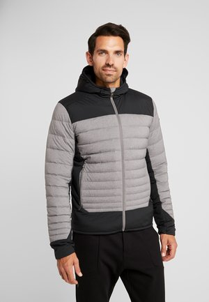 BLACKCOMB STRETCH HOODED JKT - Lyžařská bunda - steel greymelange/black