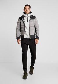 Kjus - BLACKCOMB STRETCH HOODED JKT - Veste de ski - steel greymelange/black - 1