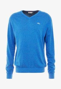 Kjus - MEN KIRK V-NECK  - Pullover - pacific blue melange - 3