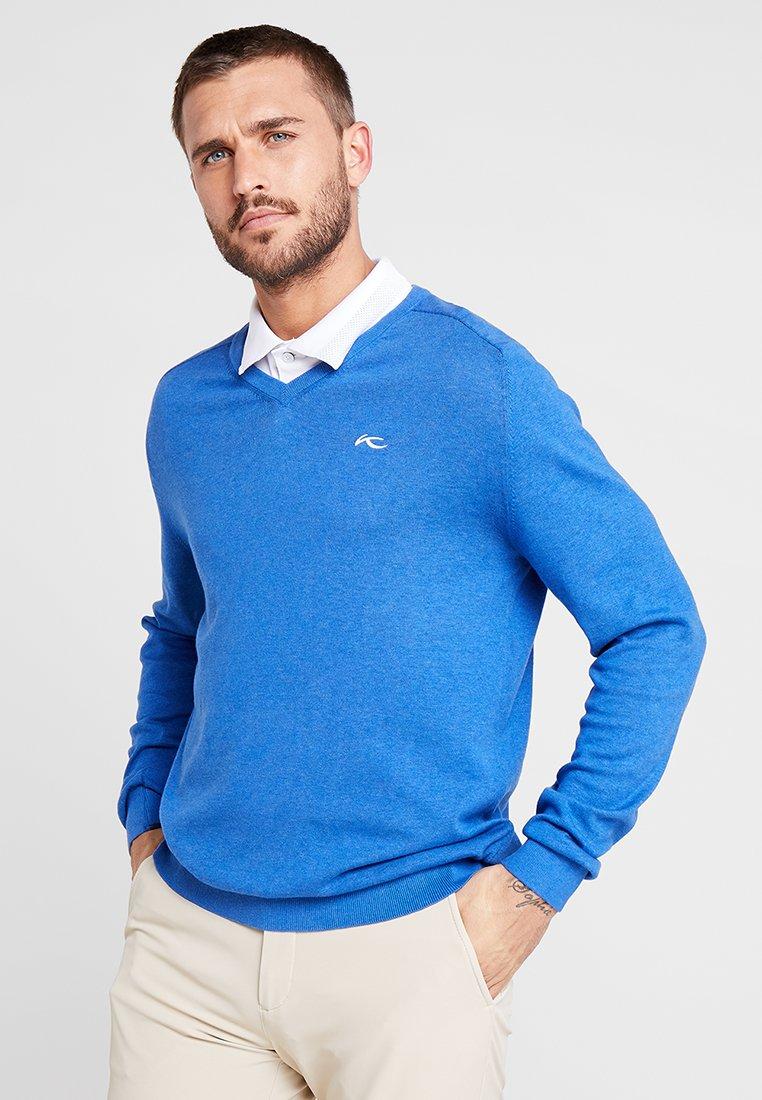 Kjus - MEN KIRK V-NECK  - Pullover - pacific blue melange