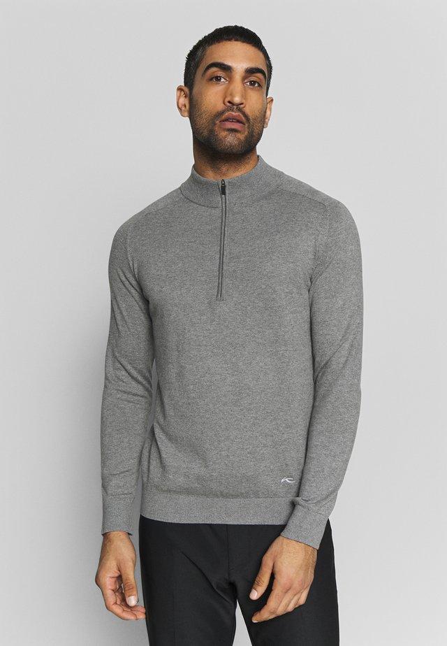 MEN KIRK HALF-ZIP - Stickad tröja - silver fog mel