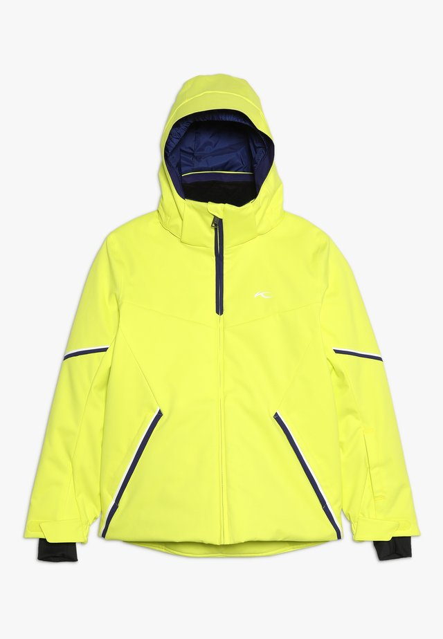 BOYS FORMULA JACKET - Snowboard jacket - citric yellow
