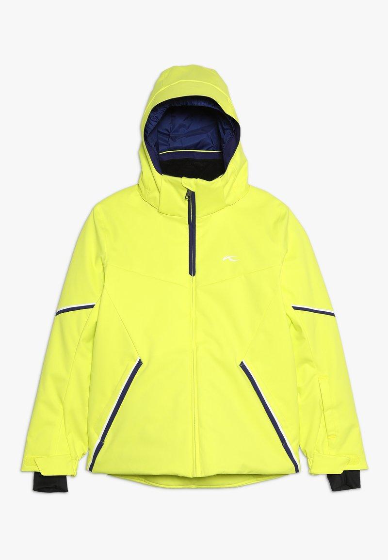 Kjus - BOYS FORMULA JACKET - Snowboardjacka - citric yellow