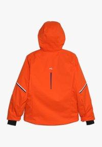 Kjus - BOYS FORMULA JACKET - Snowboardová bunda - orange/south blue - 0