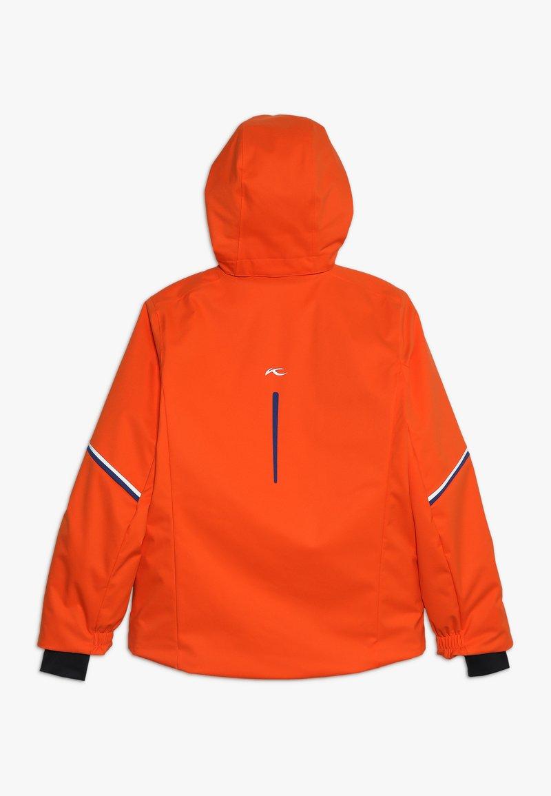 Kjus - BOYS FORMULA JACKET - Snowboardová bunda - orange/south blue