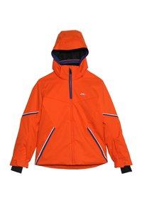 Kjus - BOYS FORMULA JACKET - Snowboardová bunda - orange/south blue - 3
