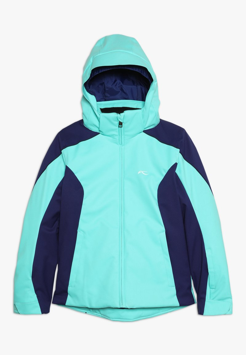 Kjus - GIRLS FORMULA JACKET - Snowboardjakke - myst sea/into blue