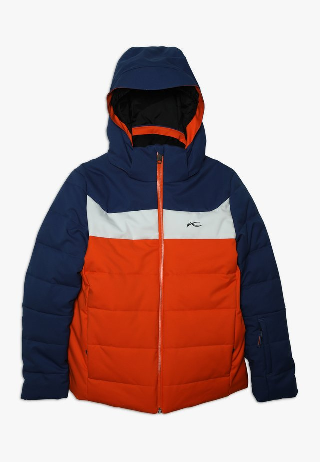 BOYS DOWNFORCE JACKET - Kurtka narciarska - orange/south blue