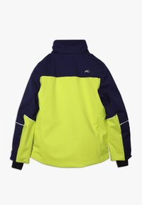 Kjus - BOYS SPEED READER JACKET - Ski jacket - citrus yellow/south black - 2