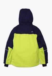Kjus - BOYS SPEED READER JACKET - Ski jacket - citrus yellow/south black - 1