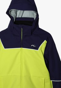 Kjus - BOYS SPEED READER JACKET - Ski jacket - citrus yellow/south black - 5