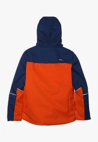 Kjus - BOYS SPEED READER JACKET - Ski jacket - orange/south blue - 1