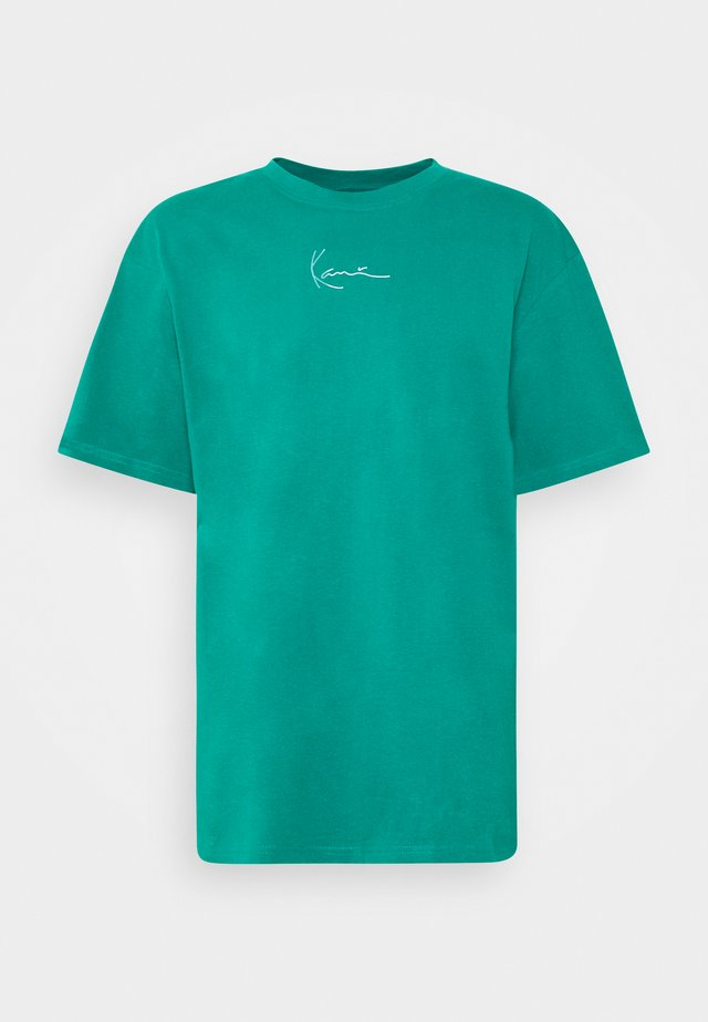SMALL SIGNATURE TEE UNISEX - Print T-shirt - turquoise