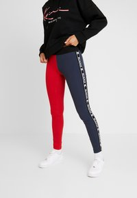 Karl Kani - KK TAPE - Legging - red/navy - 0