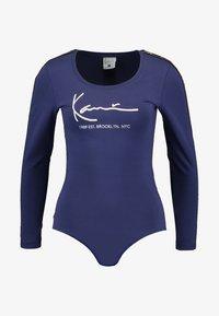 Karl Kani - SIGNATURE BODY - Maglietta a manica lunga - blue - 4