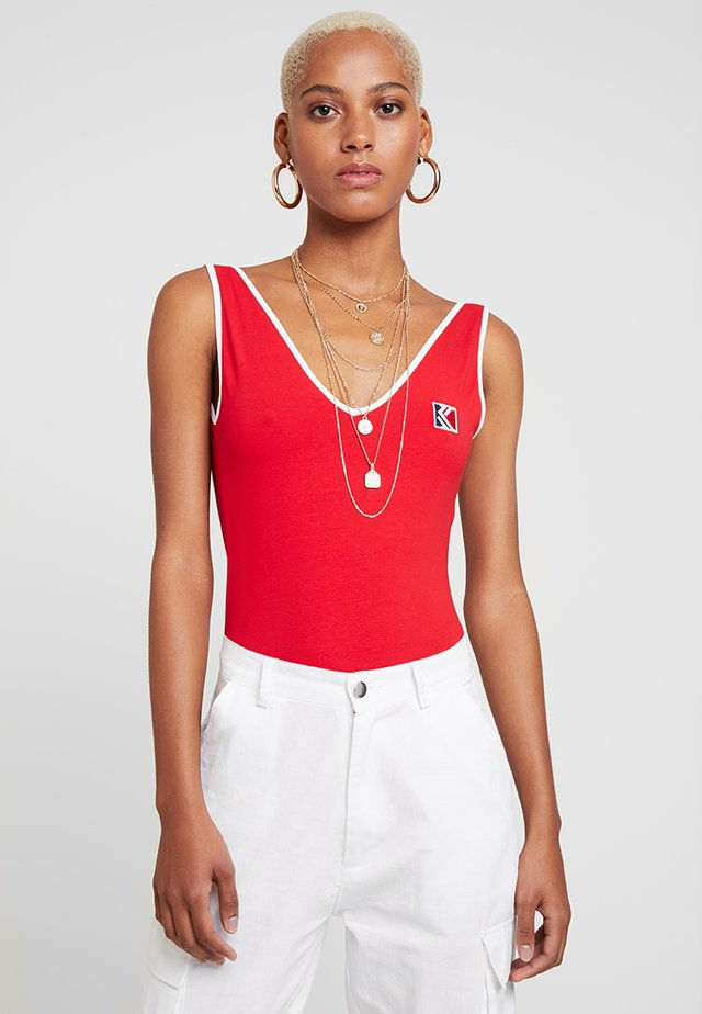 Top - red/white