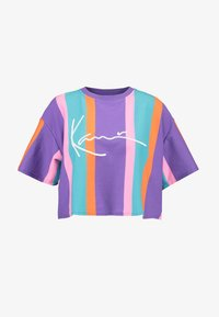 Karl Kani - SIGNATURE STRIPE TEE - T-shirt imprimé - purple/pink/blue/orange - 3