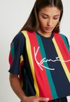 Karl Kani - SIGNATURE STRIPE TEE - T-Shirt print - blue/yellow/red/green