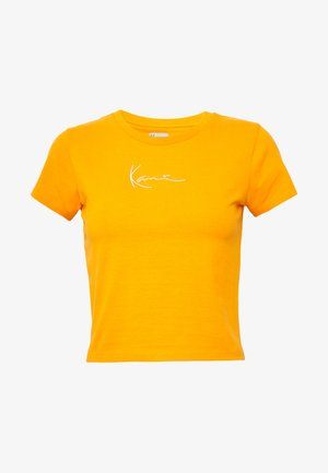 SIGNATURE SHORT TEE - T-shirts med print - orange/white