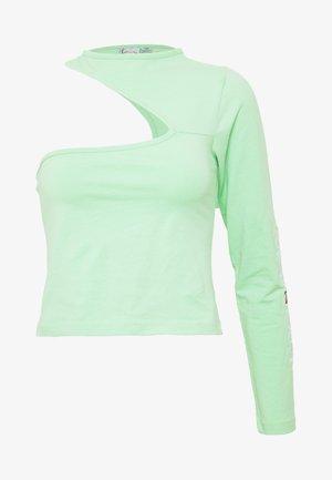 RETRO ONE SHOULDER TOP - T-Shirt print - green/white