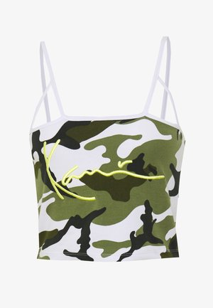 SIGNATURE CAMO CROPPED - Débardeur - green/white/black/yellow