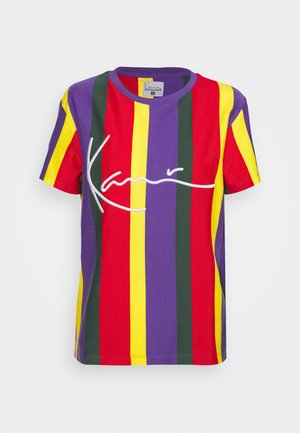 SIGNATURE STRIPES TEE - T-shirts med print - purple/green/red/yellow