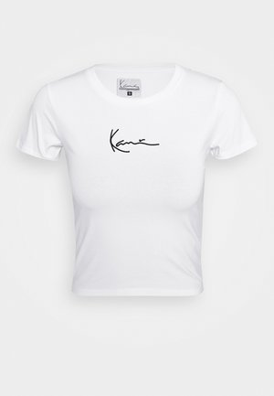 SMALL SIGNATURE SHORT TEE - T-shirt print - white