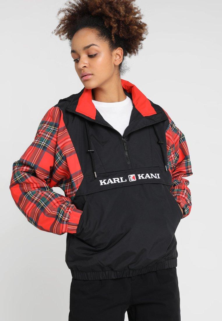Karl Kani - CHECK WINDBREAKER - Übergangsjacke - black/red/green