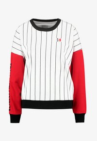 Karl Kani - RETRO BLOCK CREW - Sweatshirt - white/red/black - 5