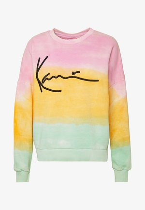 SIGNATURE GRADIENT CREW - Sweatshirt - pink/orange/green